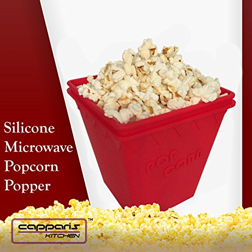 Microwave Popcorn Popper - No Oil Needed - by Capparis Kitchen (Organic Popcorn Quinn compare prices)