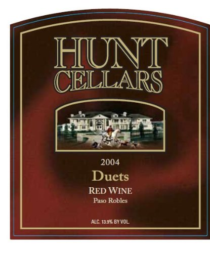 2004 Hunt Cellars 'Duets' Red Blend, Paso Robles 750 Ml