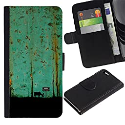 For Apple iPhone 5 / iPhone 5S,S-type® Teal Art Painting Moose - Drawing PU Leather Wallet Style Pouch Protective Skin Case