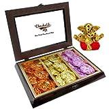 Chocholik Belgium Chocolate Gifts - Scintillating Assortment Of Rock Chocolates With Small Ganesha Idol - Diwali...