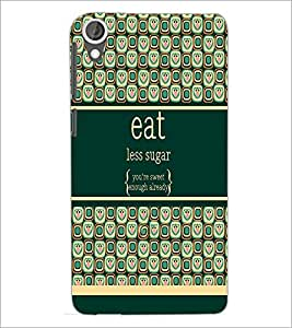 PrintDhaba Quote D-2780 Back Case Cover for HTC DESIRE 820 (Multi-Coloured)