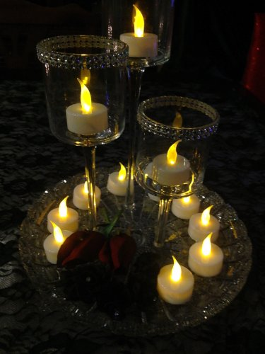 Spring Rose(TM) 24 Battery Operated Flameless Tealights. These Are Great for Wedding Decorations, Parties, Banquets, or Any Type of Event. Can Be Used in Centerpieces, Floral Displays, or Votive Candle Holders. A Must For Party Supplies.