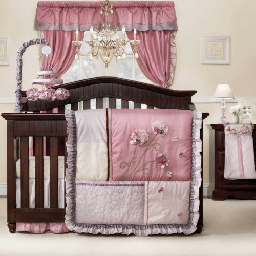 Fleur 9 piece baby crib bedding set by kidsline baby for Best value baby crib