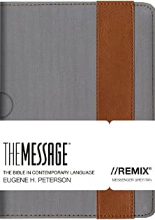 The Message//REMIX canvas lthrlok messenger grey/tan