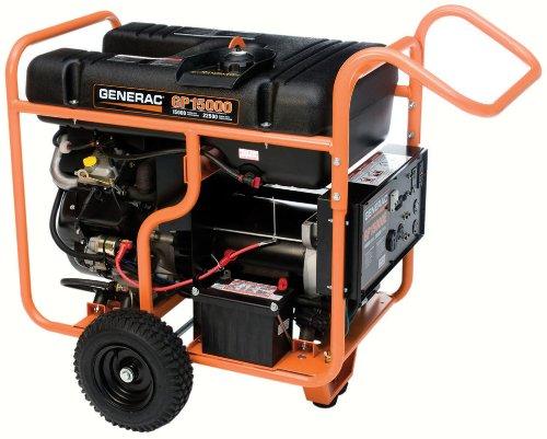 Generac 5734 GP15000E 15,000 Watt 992cc OHVI Gas Powered Portable Generator with Electric Start