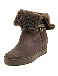 Coach Women's Norell Suede/Shearling Snow Boot Size US 6 Chestnut