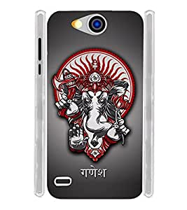 Lord Ganapati Vinayak Soft Silicon Rubberized Back Case Cover for Xolo Prime