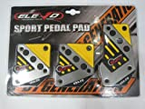 Elevo - Jet Yellow Racing Pedal Covers Manual ,Car Pedal Set in Automotive