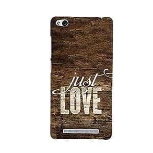 iSweven Printed _redmi3S_3137 Just Love Design Multicolored Matte finish Back case cover for Xiomi Redmi 3S