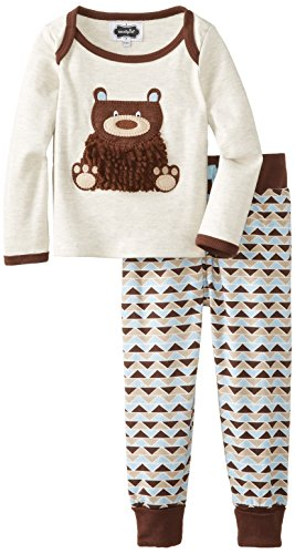 Mud Pie Baby-Boys Infant Bear 2 Piece Set, Brown, 18 Months front-1038145