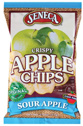 Seneca Sour Apple Apple Chips,2.5-Ounce Bags (Pack of 12)