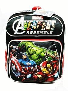 Medium Size Black and Red Avengers Assemble Backpack - Kids Avengers Backpack
