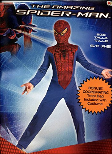The Amazing Spider-man Costume with a Treat Bag-size S/p(4-6)