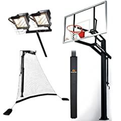 Goalrilla GLR GSI 72 Basketball System with Pole Pad, Ball Return Net and Deluxe Hoop... by Goalrilla