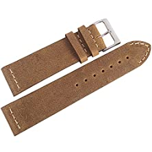 buy Colareb 22Mm Venezia Rust Brown Distressed Leather Mens Watch Strap Made In Italy