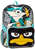 Disney Phineas and Ferb School Backpack with Lunch Box Kit 16 Inch