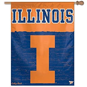 Buy Wincraft Illinois Fightin Illini College Vault 27x37 Vertical Flag by WinCraft