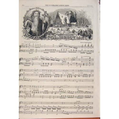 OLD CHRISTMAS MURBY WATTS MUSIC POETRY SONG SHEET 1862