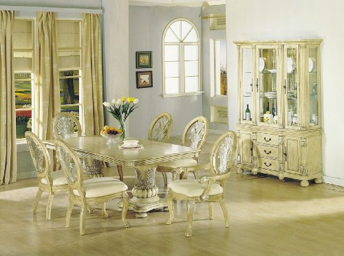Antique white dining room table
