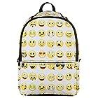 Hynes Eagle New Fashion Designer Backpack Smiling Face Casual Daypacks Emoji School Book Bags (White)