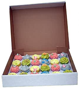 "4"" DEEP Strong 24 Cupcake cup fairy cake muffin box with insert for 24 Cupcakes"