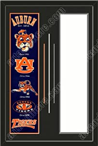 Auburn Tigers & Your Choice of other Team Heritage Banner Framed-House... by Art and More, Davenport, IA