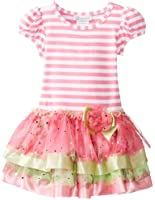 Bonnie Jean Little Girls' Stripe Knit Tiered Dress