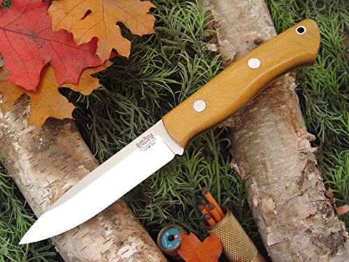 Bark River Aurora Fixed Blade Knife,Cpm 3V Steel Blade,Natural Canvas Micarta Handle 06-145Mnc