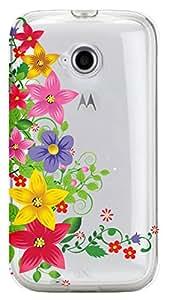 WOW Transparent Printed Back Cover Case For Motorola Moto E(2nd Gen)