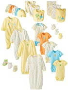 Gerber Unisex-Baby Newborn Unisex 26 Piece Essentials Gift Set, Yellow, 0-6 Months
