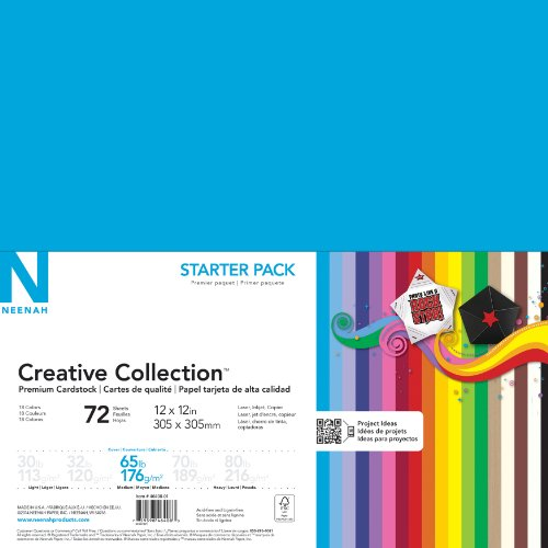 Neenah Creative Collection Classics Specialty Cardstock Starter Kit, 12 X 12 Inches, 72 Count (46408-01) (Stock Making compare prices)