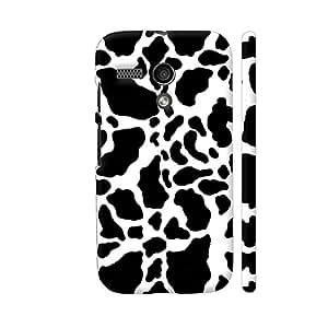 Colorpur Black And White Cow Skin Pattern Designer Mobile Phone Case Back Cover For Motorola Moto G1   Artist: Looly Elzayat