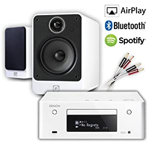 Review and Buying Guide of Buying Guide of Creative Audio CA-MS32i-WGW Micro Stereo System (Denon RCD-N9 CEOL White + Q Acoustics 2020i Gloss White + £60 QED cable bundle). 2 Year Guarantee + Free next working day delivery (most mainland UK addresses)!