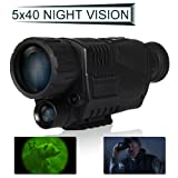 Floureon® 5 Power Zoom Monocular 200m Range Takes Photos&Video Night Vision Monocular(5X)