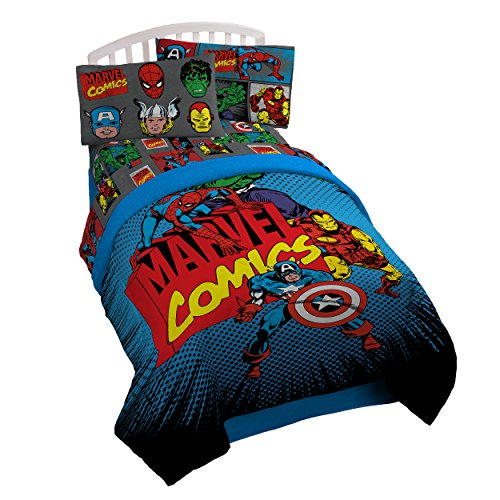 MARVEL Superheroes Microfiber Reversible Comforter, Twin (Captain America Trash Can compare prices)