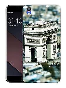 "Arc De Triomphe Paris ArtPrinted Designer Mobile Back Cover For ""Oppo F1 PLUS"" (3D, Matte, Premium Quality Snap On Case)"