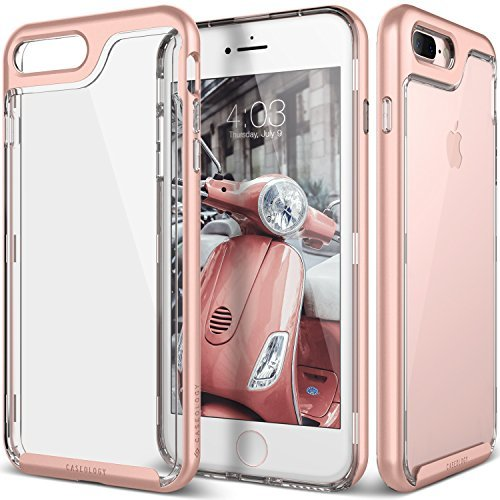 iPhone 7 Plus Case, Caseology [Skyfall Series] Transparent Clear Enhanced Grip [Rose Gold] [Slim Cushion] for Apple iPhone 7 Plus (2016)