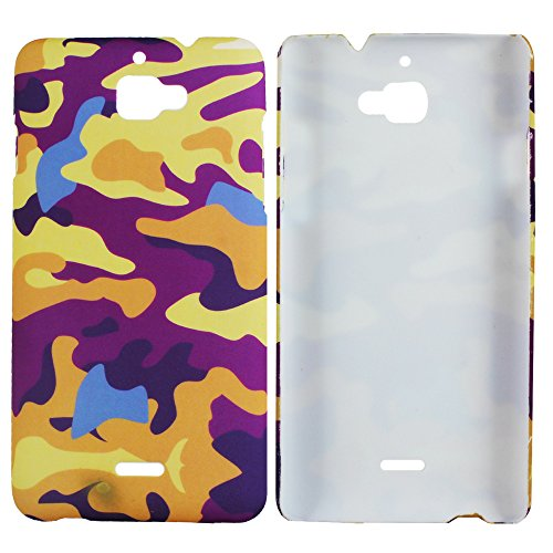 Heartly Army Style Retro Color Armor Hybrid Hard Bumper Back Case Cover For Micromax Canvas Nitro A310 A311 Dual Sim - Yellow Field