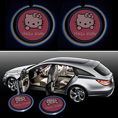 Beon-Pack-of-2-Hello-Kitty-Logo-Wireless-LED-Car-Door-Light
