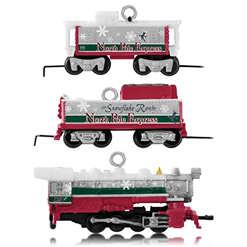 Hallmark 2014 Lionel North Pole Express Miniature Ornament Set