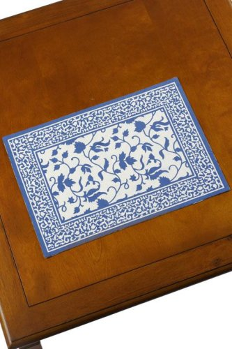 Set Of Four Placemats Pisa White/blue - Buy Set Of Four Placemats Pisa White/blue - Purchase Set Of Four Placemats Pisa White/blue (Home Decorators Collection, Home & Garden, Categories, Kitchen & Dining, Kitchen & Table Linens, Place Mats, By Style, Traditional)