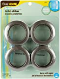 Dritz 1-9/16-Inch Inner Diameter Curtain Grommets, 8-Pack, Pewter