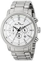 Lucien Piccard Men's LP-12011-22S Monte Viso Analog Display Japanese Quartz Silver Watch from Lucien Piccard