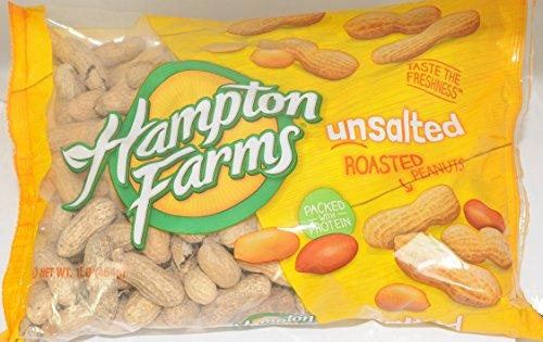 Hampton Farms Unsalted Roasted Peanuts 1 lbs (Pack Of 3) (Unsalted Roasted Peanuts In Shell compare prices)