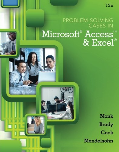 Problem Solving Cases In Microsoft Access and Excel (Direct Access Solutions compare prices)