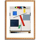 トイバー・アルプ Taeuber-Arp, Sophie「Equilibre. 1932/33」インテリア アート 絵画 プリント 額装作品 フレーム:装飾(白) サイズ:XL (563mm X 745mm)
