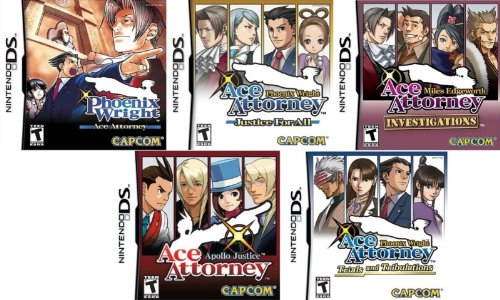 Phoenix Wright: Ace Attorney, Justice for All, Trials and Tribulations, Miles Edgeworth Investigations, Apollo Justice Ultimate Bundle - Nintendo DS (Ace Attorney Dual compare prices)