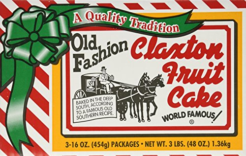 FRUIT CAKE Boxed 3-1lb Regular Recipe Claxton Fruitcake (Fruit Cakes With Rum Or Brandy compare prices)