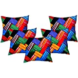 Vintana Presents 16 X 16 Inches Multi Colour Digtal Print Cusion Cover Set Of 5