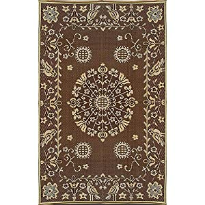 mad mats pennsylvania dutch indoor outdoor floor mat 5 by 8 feet brown and black. Black Bedroom Furniture Sets. Home Design Ideas